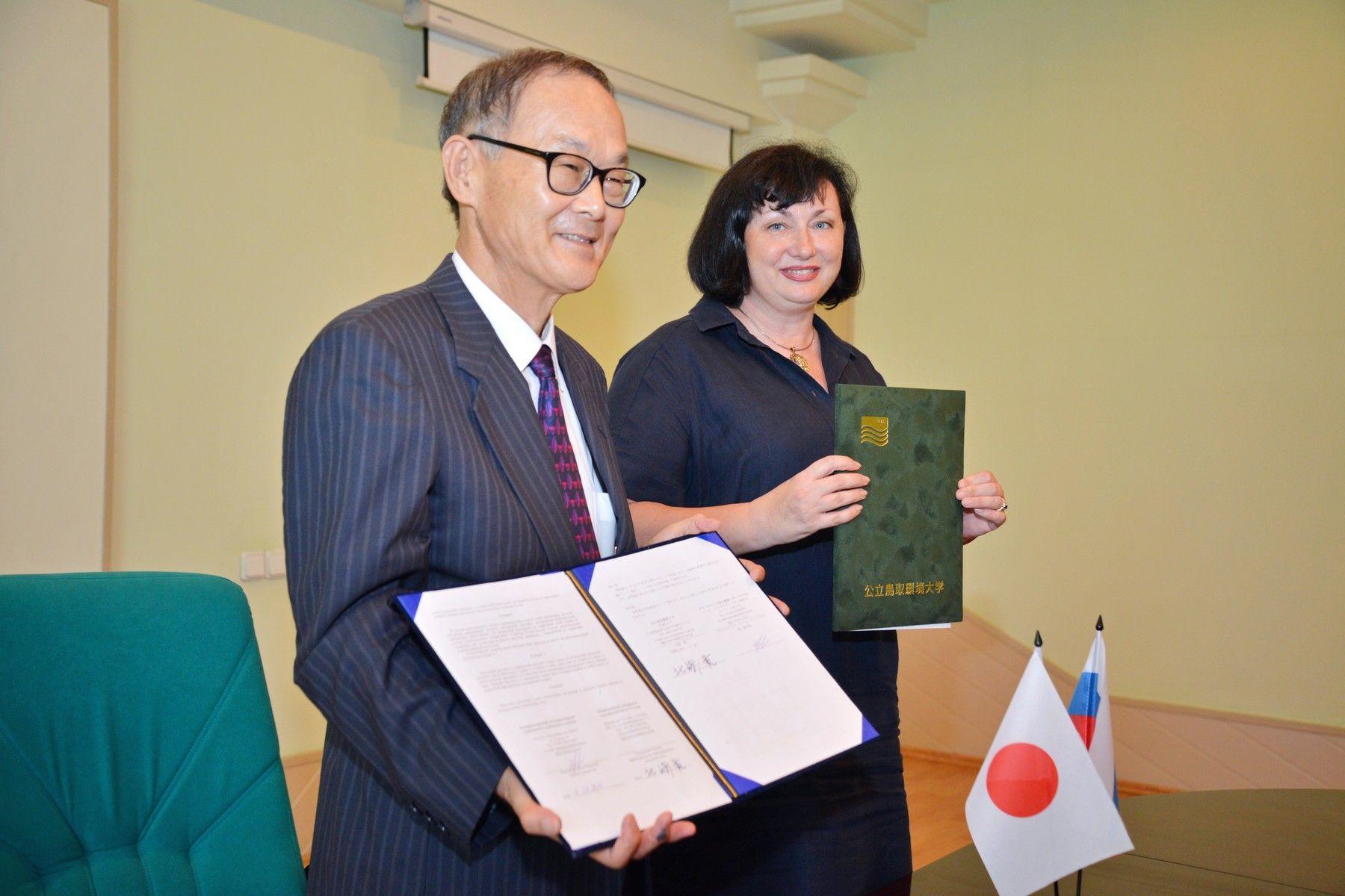 ВГУЭС расширяет сотрудничество с Университетом окружающей среды Тоттори