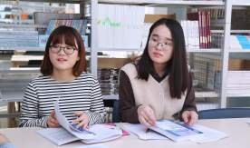 Students from South Korea had visited VSUES library