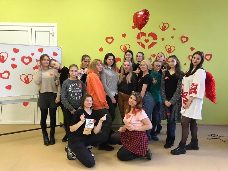 День всех влюбленных в филиале ВГУЭС в г. Уссурийске.