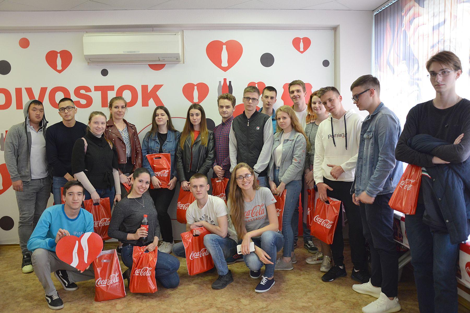 «День карьеры» в компании Coca-Cola: студенты ВГУЭС учатся у сотрудников всемирных брендов