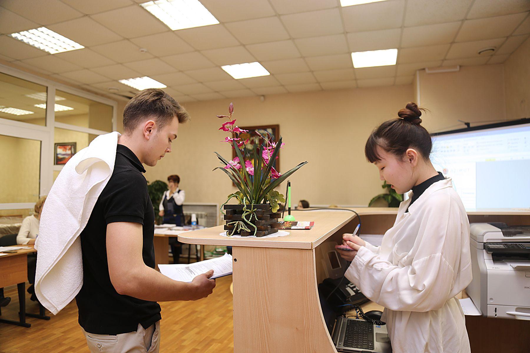 Во ВГУЭС проходит демоэкзамен по компетенции «Администрирование отеля»
