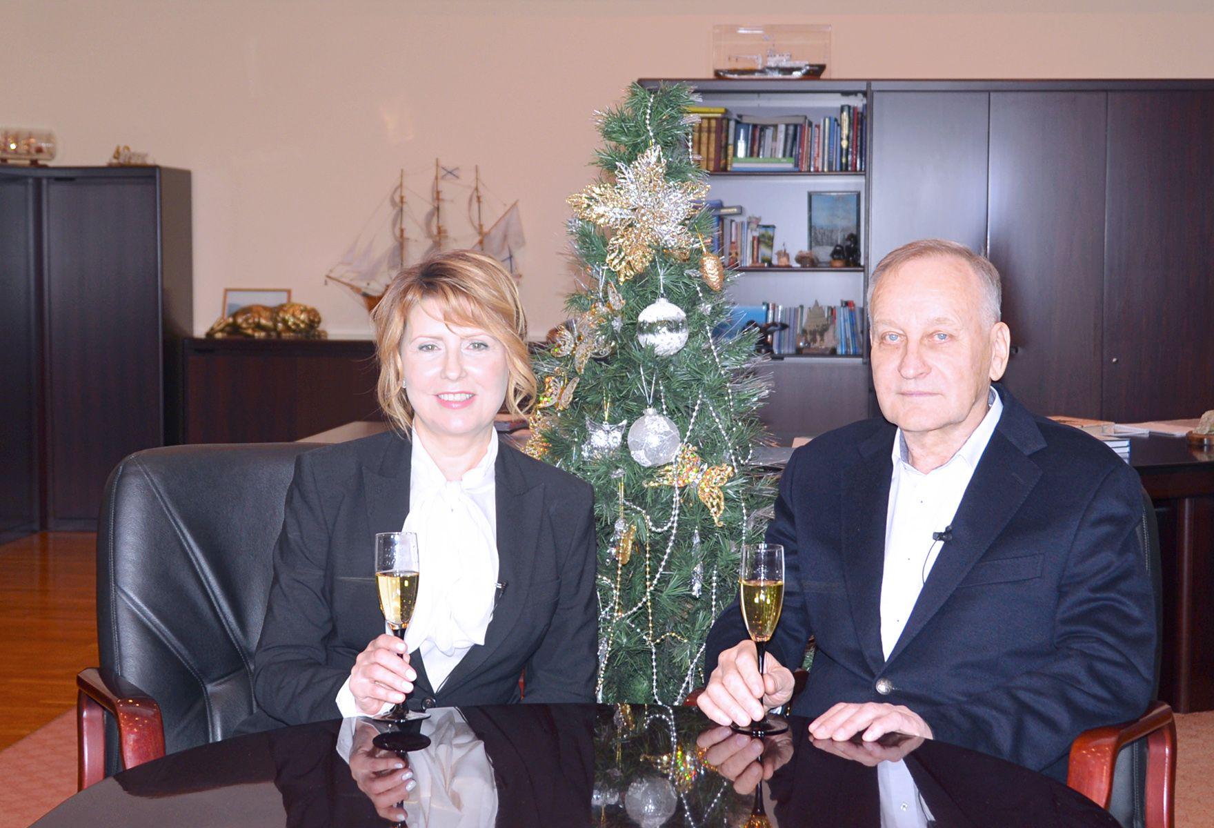 Поздравление ректора и президента ВГУЭС с Новым годом
